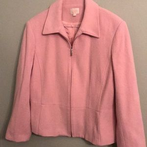 Pink Cleo wool/cashmere blend blazer